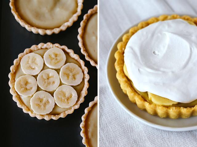 Banana cream tartlets
