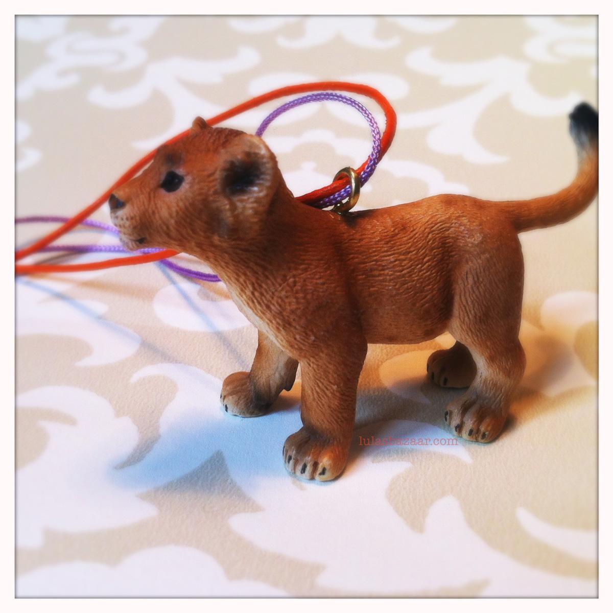toy lion cub necklace