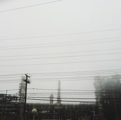 refinery-in-fog