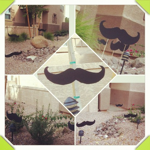 12 #mustaches of #christmas << We have the best neighbors. Ever.