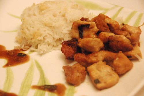 Beijing Satin Chicken with chives and ginger