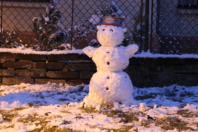Our first snowman of the year