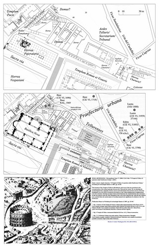 """ROMA ARCHEOLOGIA:  Metropolitana Linea 'C' (2006-12) & Velia: """"Il Tempio di Tellus e il quartiere della Praefectura Urbana,"""" (2007). by Martin G. Conde"""