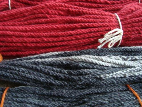 Finished yarn close-up