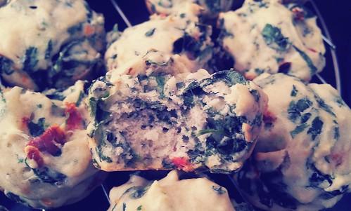Sun-Dried Tomato Spinach Muffin