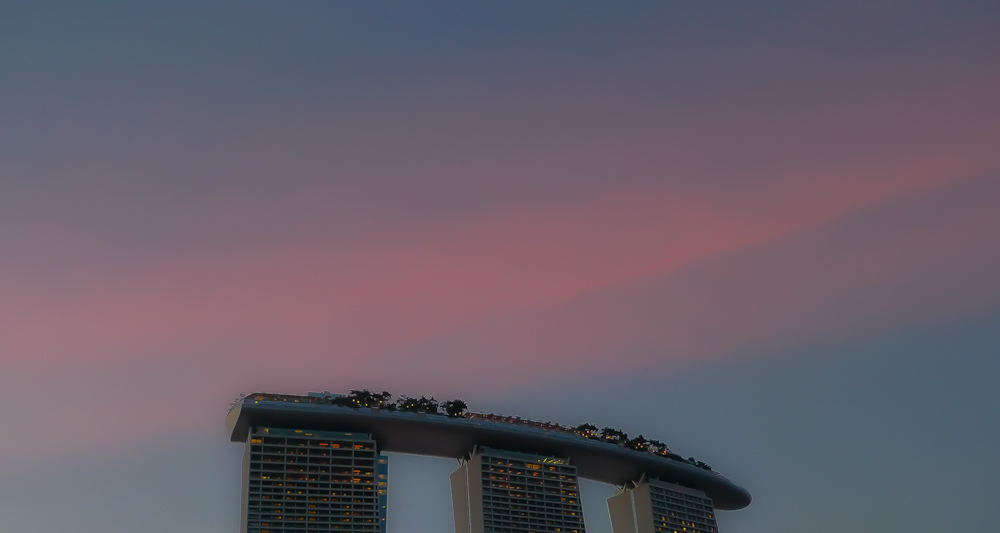 Marina Bay Sands Sunset