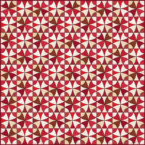 Red and White Winding Ways Quilt