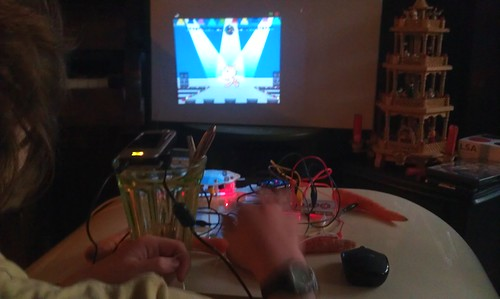 Makey Makey carrot keyboard