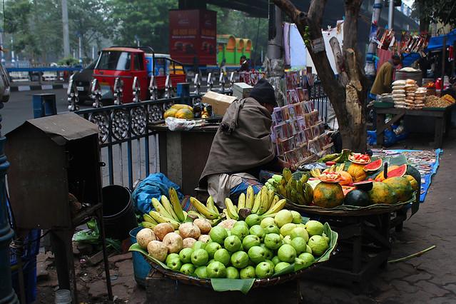 A fruit vendor