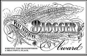 Very Inspiring Blogger Award Graphic