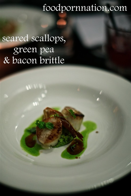 scallops w bacon brittle