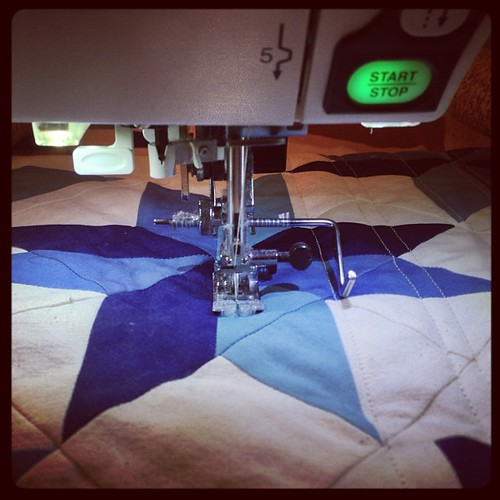 George quilting is finally underway. I hope to finish tonight.