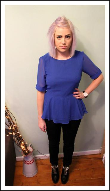 Outfit post chiffon peplum