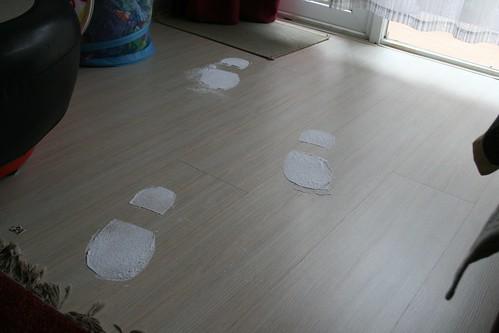 Santa's footprints