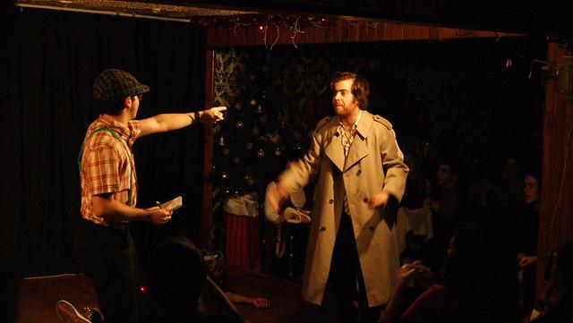 Dos actores en escena