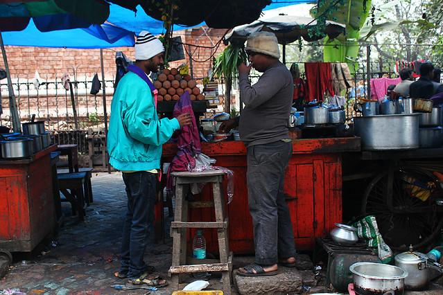 A chai tea vendor and his friend