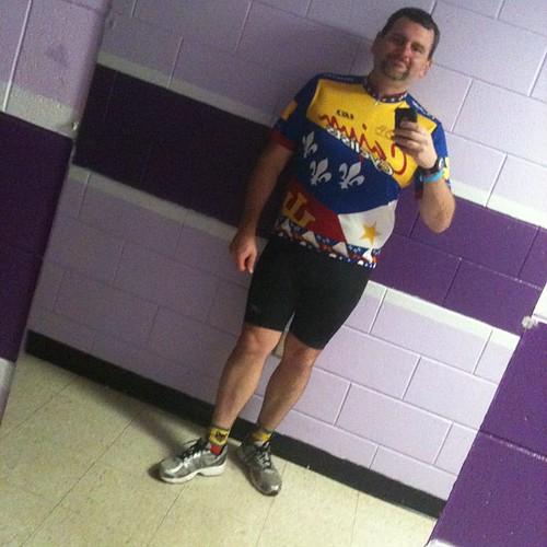 Me, in Cajun Cyclist Jersey