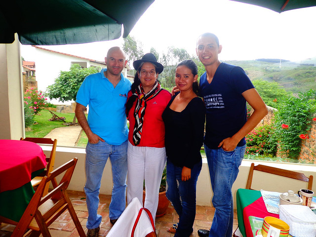 Lupe Cajías visita Vallegrande