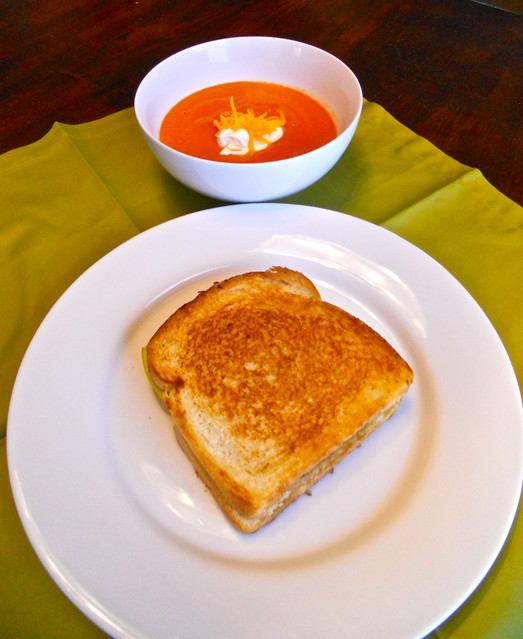 Grown-Up Grilled Cheese and Tomato Soup
