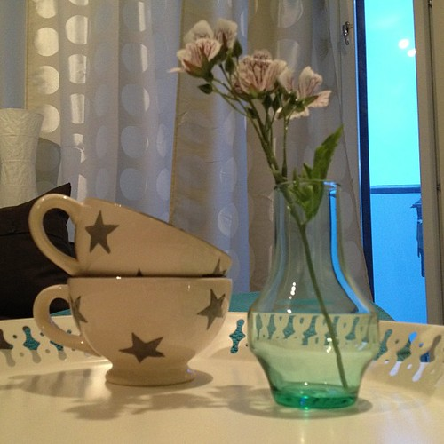 #details #cus #stars #turquoise #flower #white #tray #dots #interiordesign #instadaily