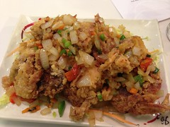 Salt and pepper soft shell crabs