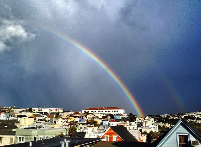 Double rainbow over Bernal