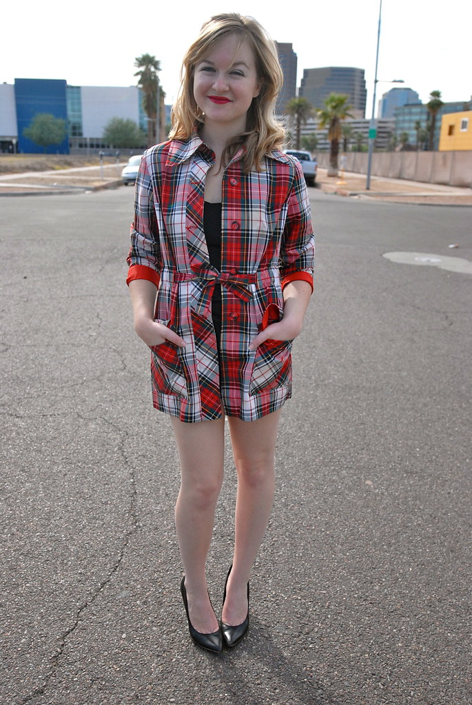 Plaid Coat and Romper