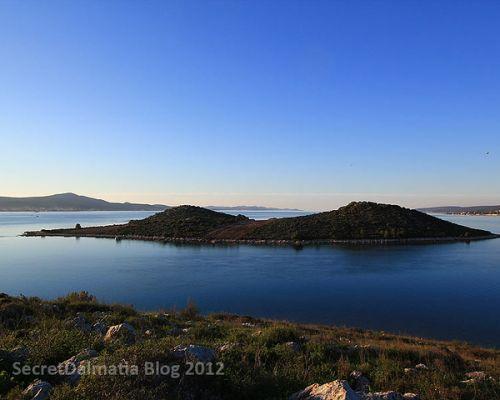 Heart-shaped island of Galesnjak