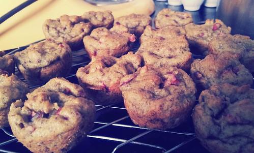 Avocado Cranberry Muffins