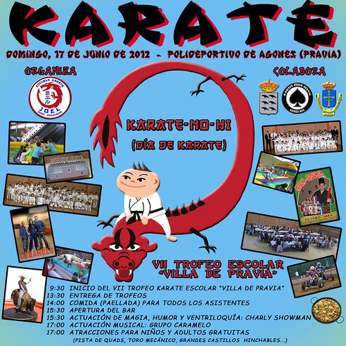 Cartel Trofeo Karate Escolar Villa de Pravia