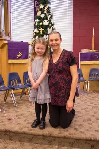 Jadyn & her preschool teacher