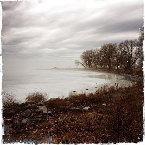 Bay of Quinte - frozen water & warm temperatures.
