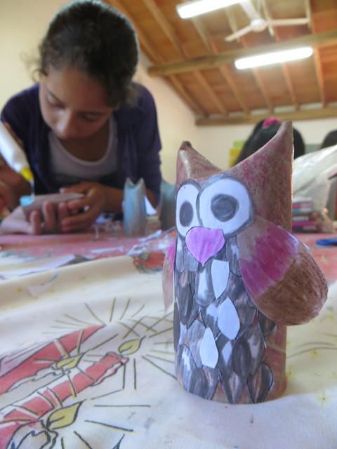 toliet paper tube owl