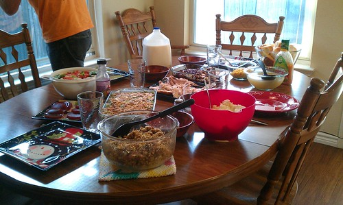 11-22-12 TX - Ft.Worth, Thanksgiving table