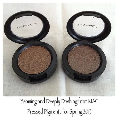 my picks from MAC Pressed Pigment for Spring 2013 #PhotoShake cc: @JigsMayuga