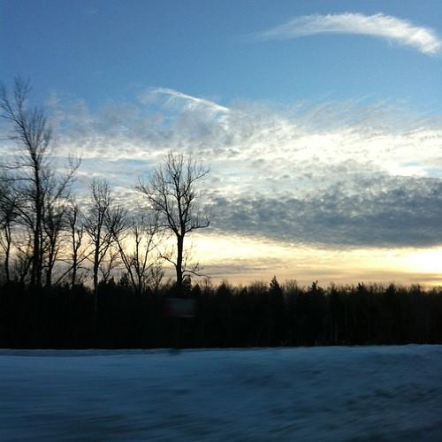 Last sunset sky of 2012