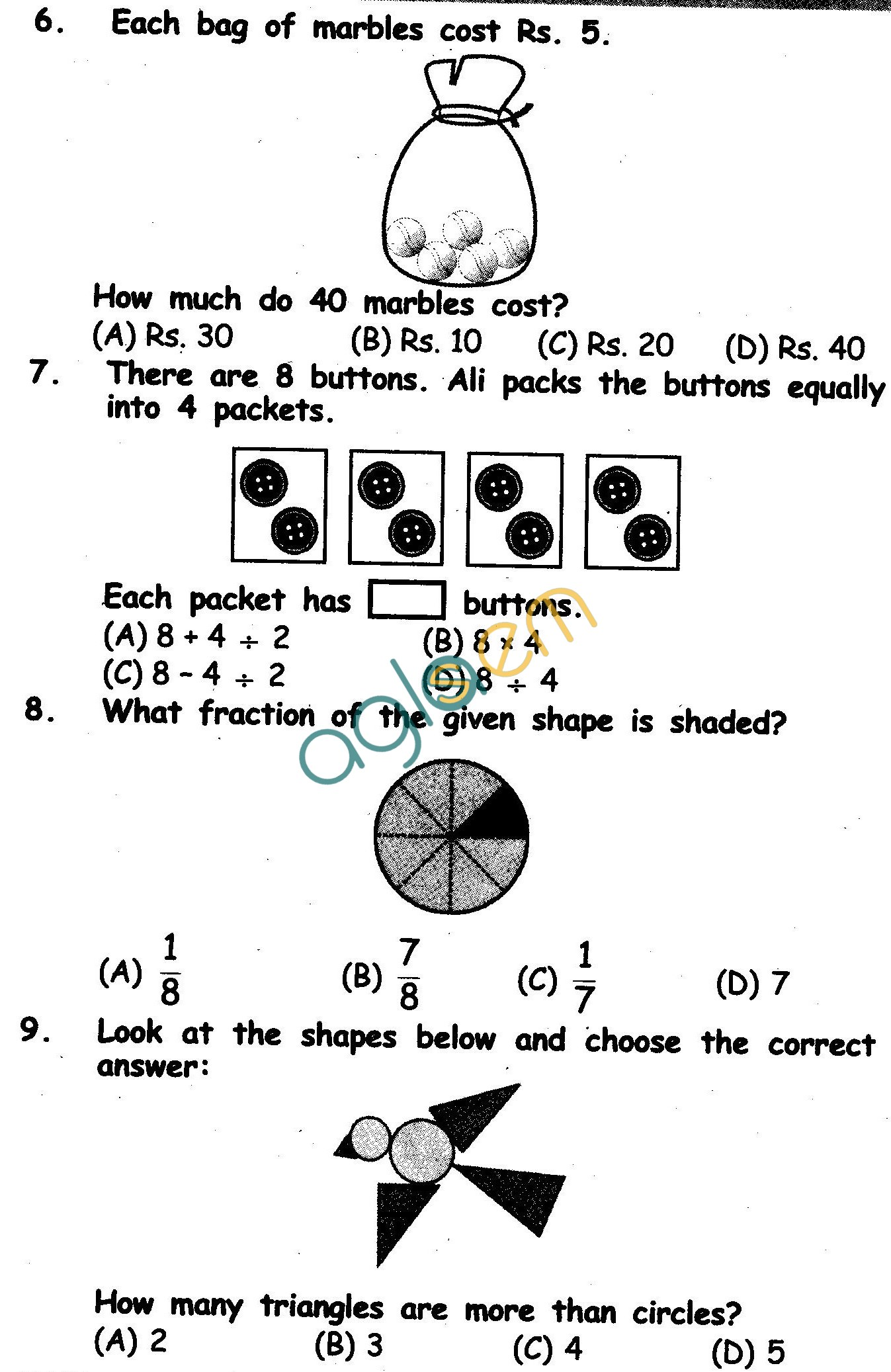 Nstse Solved Question Paper For Class Ii Mathematics