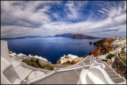 Santorini Fisheye View