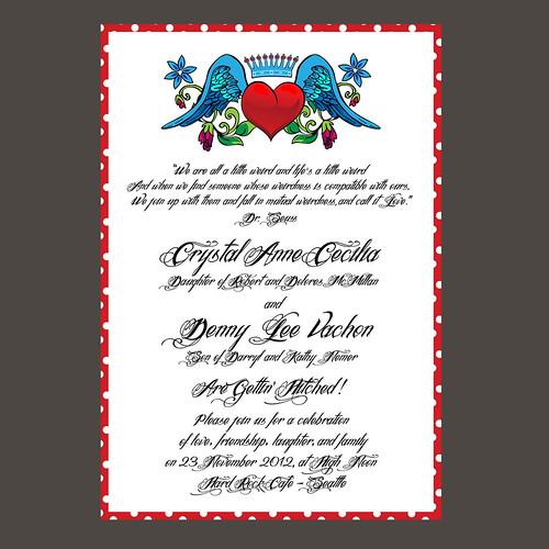 Super Awesome Wedding Invitation