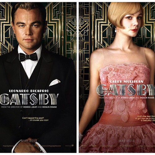 Leonardo DiCaprio and Carey Mulligan are on two striking new posters for THE GREAT GATSBY! #leonardodicaprio #leodicaprio #careymulligan #thegreatgatsby