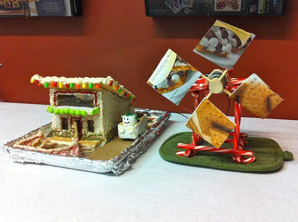 Green-Powered Gingerbread House