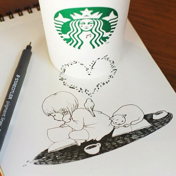 starbucks-cups-3d-drawings-tomoko-shintani-3