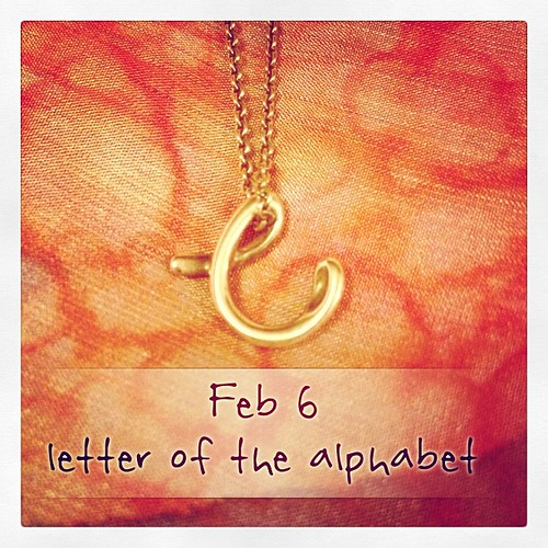 Feb 6 - a letter of the alphabet {'c' my first initial} #photoaday #tiffany's