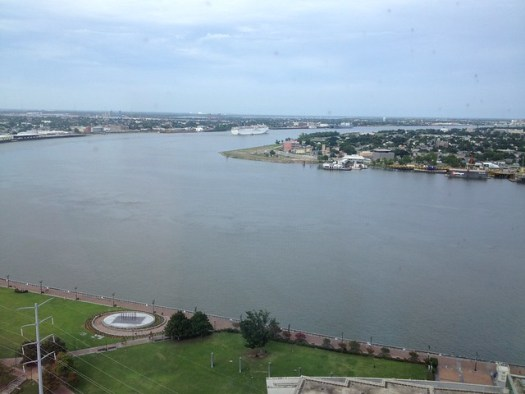 View of the Mississippi River from Westin Canal Place, New Orleans