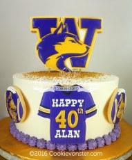Washington Husky cake