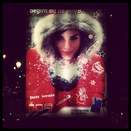 happy Xmas #brussels #mivb #stib #girl