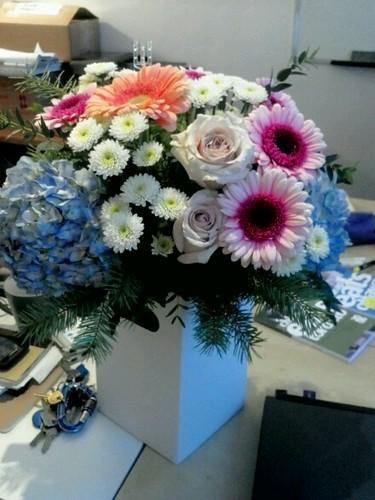 birthday flowers! by LexnGer