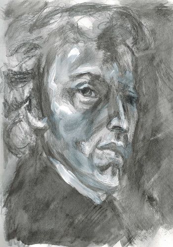 Chopin (after Delacroix) by husdant