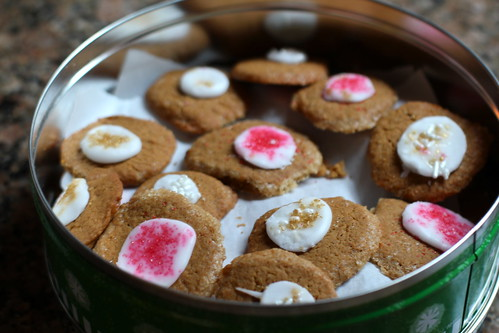 speculoos buttons, in a tin