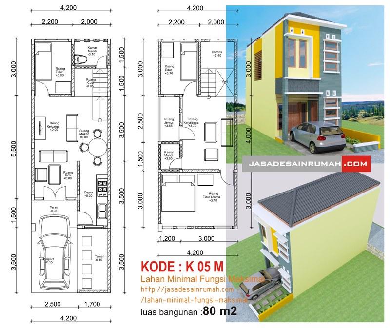 Rumah Minimalis Lantai 2 Nuansa Ungu  desain rumah minimalis 2 lantai lebar 6 meter
